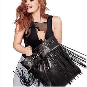 VICTORIA'S SECRET FLIRTY FRINGE TOTE BAG